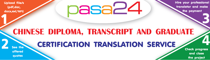 CHINESE DIPLOMA, TRANSCRIPT AND GRADUATE CERTIFICATION TRANSLATION SERVICE