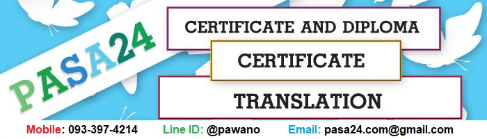 Certificate and diploma certificate translation