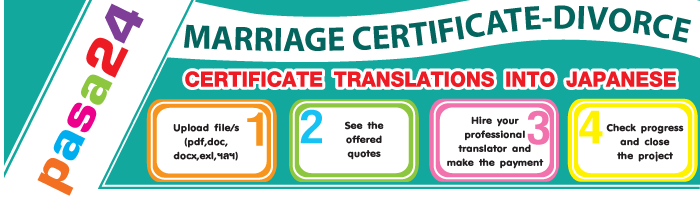 MARRIAGE CERTIFICATE DIVORCE CERTIFICATE TRANSLATIONS INTO JAPANESE