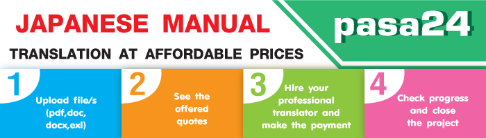 JAPANESE MANUAL TRANSLATION AT AFFORDABLE PRICES