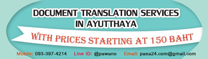 online translation service for customers in Ayutthaya