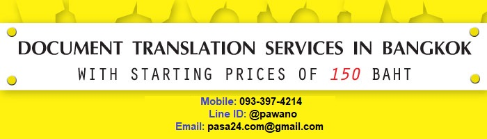 online translation service for customers in Bangkok