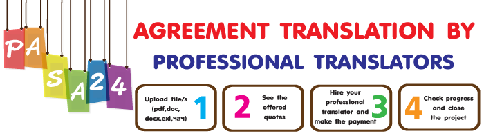AGREEMENT TRANSLATION BY PROFESSIONAL TRANSLATORS