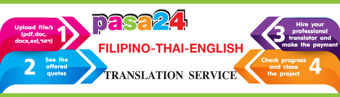 Filipino-Thai-English Translation Service