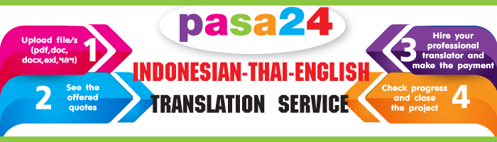 Indonesian -Thai-English Translation Service