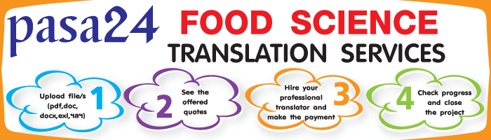 FOOD SCIENCE TRANSLATION SERVICES