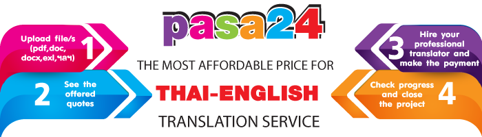 The most affordable price for Thai-English Translation Service