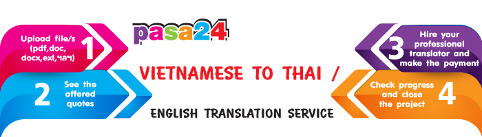 Vietnamese to Thai / English translation Service